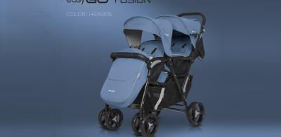 Wózek dla dwójki dzieci FUSION marki EASYGO – wózek dla bliźniąt lub dzieci rok po roku