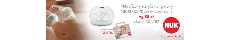 NUK Mikrofalowy sterylizator MICRO EXPRESS w super cenie!