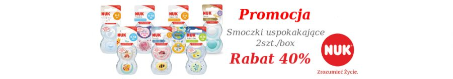 Smoczki uspokajające 2szt./box RABAT -40%