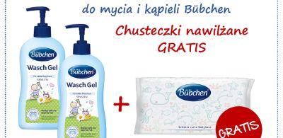 Promocja Bübchen- przy zakupie 2 płynów chusteczki GRATIS!