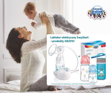 CANPOL Laktator elektryczny EasyStart+produkty GRATIS!