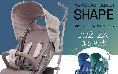 Wyprzedaż kolekcji 4BABY PARASOLKA SHAPE JUŻ ZA 159zł !