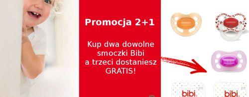Promocja na smoczki bibi 2+1 gratis!