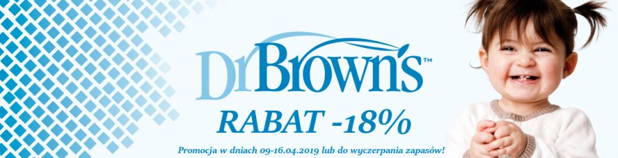 Promocja na wszystkie produkty Dr. Brown's