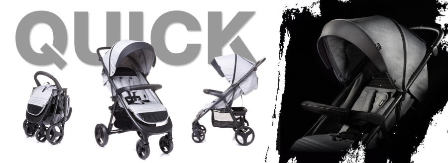 NOWOŚĆ Wózek spacerowy QUICK 4baby
