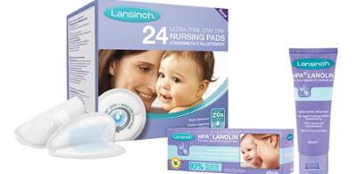LANSINOH zestaw promocyjny lanolina 40 ml + wkładki laktacyjne 24 szt.