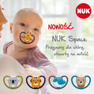 Nowe smoczki NUK Space i Sensitive w ofercie